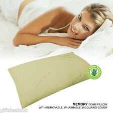 Delux qualità triturati MEMORY FOAM PILLOW Collo Poggiatesta Comfort Aloe Vera Touch
