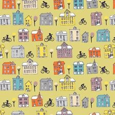 Ride Town and Bikes Chains  Cotton Quilt Fabric Windham Fabrics  Circus  BFab