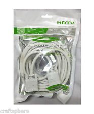 Terabyte Full Copper Male to Male 15 Pin VGA Cable- 5 Meter Projector, Laptop
