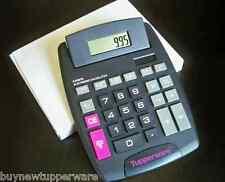 Tupperware Solar Calculator Pink Black Grey Rare Consultant Award New