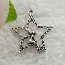 Free Ship 184 pieces tibet silver star angel charms 29x25mm  #095