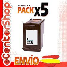 5 Cartuchos Tinta Negra / Negro HP 338 Reman HP Photosmart 2575 xi