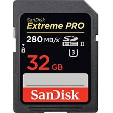 SanDisk 32GB 1867x Extreme Pro SD SDHC UHS-II U3 Class 10 280MB/s 4K Memory Card