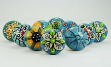 10 colorful Design Ceramic Cupboard Cabinet Door Knobs Drawer Handle knob pull