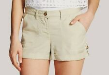 Nwt Vince Camuto Textured Button Tabs Roll Cuff Tencel Shorts Pants ~Cashew *12