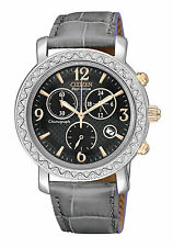 Citizen Eco-Drive DRIVE Chronograph Two Tone Leather Women's Watch FB1298-05H