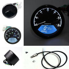 Universal 12000RPM LCD Digital Motorcycle Speedometer Odometer Tachometer NEW