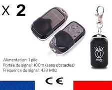 LOT 2 TELECOMMANDE UNIVERSELLE COPIEUSE 433 MHZ CAME JOLLY PORTAIL GARAGE BIP