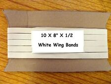 """RA AA 1090 Model Aircraft Rubber Wing Bands 8"""" Rubber  pk of 10"""