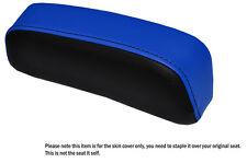 BLACK & R BLUE CUSTOM FITS SUZUKI GSXR 750 F SLABSIDE PAD LEATHER SEAT COVER
