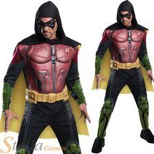 Mens Deluxe Arkham Origins Robin Costume Halloween Batman Fancy Dress Outfit