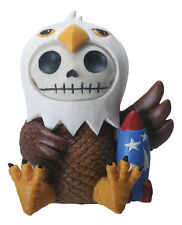 FURRY BONES FIGURINE - BALDIE THE EAGLE -JUST RELEASED SKULL SKELETON IN COSTUME