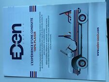 Catalogue brochure Katalog  CITROEN MEHARI EDEN Année 2016 2 PAGES