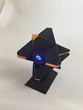 3D Printed Destiny Ghost w/LED - Black & Orange (with display stand)