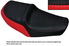 BRIGHT RED & BLACK CUSTOM FITS YAMAHA XS 650 SE DUAL LEATHER SEAT COVER