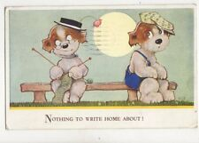 Nothing To Write Home About [4296] 1939 Comic Dog Postcard 140b