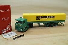 Herpa 824001 Modellauto Pritschen LKW DAF Spedition SCHENKER L2