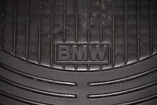 BMW Floormats 3 Series E46 Black Rubber All Weather Front set 99-05 OEM