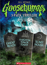 Goosebumps: Ghost Beach/A Night in Terror Tower/Scary House (DVD, 2014,...