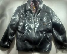 V Made in Italy™ Leather Jacket ***25w 31l XL*** black, authentic soft leather