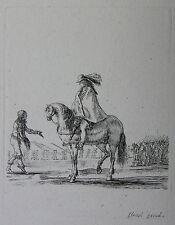 STEFANO DELLA BELLA ´REITER VOR EINEM MANN, DIVERS EXERCICES´ VESME 232, ~1645