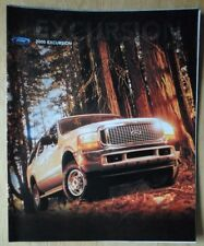 FORD EXCURSION orig 2000 USA Mkt sales brochure - XLT Limited
