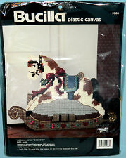 New Bucilla Rocking Horse Doorstop Plastic Canvas Kit Nursery Childs Room Decor