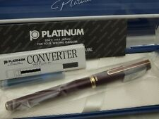 "Japanese FP PLATINUM ""Standard"" Red (near to brown) 14K M-nib with Converter"