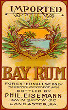 Vintage Alcohol Label Imported Bay Rum Lancaster PA  Poster Print