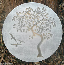 Gostatue tree of life abs plastic concrete plaster mold plaque mould