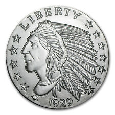 5 oz Silver Indian Head Round - Incuse Indian Head Design - SKU #57094