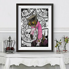 Famingo poster stampa hipster Animale Steampunk Funky a3 POSTER DIZIONARIO