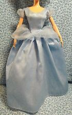 Barbie Sized Cinderella Disney Princess Blue Ball Gown for Fashion Dolls NO DOLL