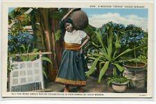Woman House Servant Criada with Water Pot Mexico 1920s postcard