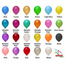 Pack of 100 - 10 Inch Air Helium Latex Balloons Party Non-Metallic Mix