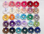 10/30 Satin Ribbon Flowers Crystal Bows with Appliques Sewing DIY Craft Wedding
