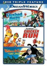 Flushed Away / Chicken Run / Wallace & Gromit Triple Feature 2014, free shipping