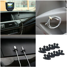 8pcs Car Smart Design Creative Black Finishing Data cable & headphone cable clip
