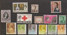 (OF-11) 1951-57 Hong Kong mix of 14 stamps 1c to$10