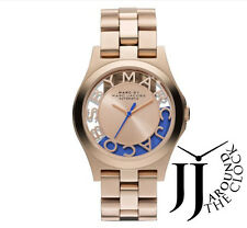 NEW MARC BY MARC JACOBS ROSE GOLD HENRY SKELETON LIMITED EDITION AUTO MBM9704