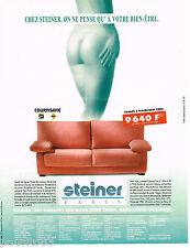 PUBLICITE ADVERTISING 065  1995  les canapés fauteuils COURTISANE de STEINER
