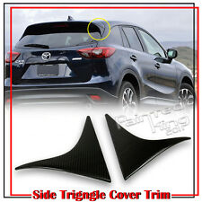 Dry Carbon Fiber For Mazda CX-5 SUV Rear Triangle Cover Trim Pair 2016 GS