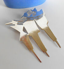 COOL LARGE .925 STERLING BROOCH ART DECO FASHION MODELS HAUTE COUTURE SIGNED