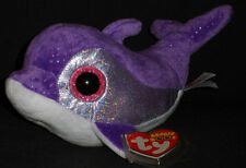 TY BEANIE BOOS BOO'S - FLIPS the DOLPHIN - MINT with MINT TAGS