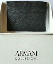 ARMANI COLLEZIONI Slim Leather Cardholder x4 Brand New with Gift Box
