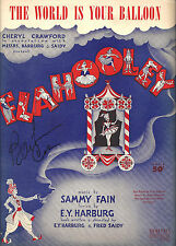 "Barbara Cook (Signed) ""FLAHOOLEY"" Yma Sumac / Yip Harburg 1951 Sheet Music"