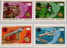 GUINEA 1974 700-03 B 672-76 UPU Cent. Space Airplane Postal Union Balloon MNH