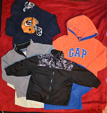 BOYS KIDS CLOTHES LOT SIZE XS S 5 6 7 GAP FLEECE HOODIE JACKET SHIRT