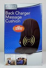 HoMedics Portable Back Charger Vibration Massage Chair Seat Cushion With Heat