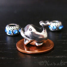 Whale European Charm With Birthstone Spacer Beads For Large Hole Charm Bracelets